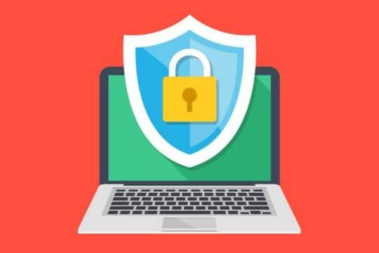 Иллюстрация защищённого ноутбука